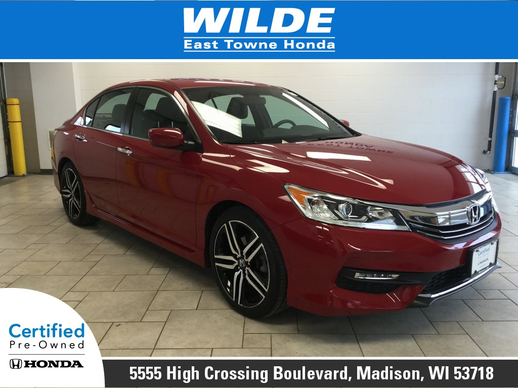 Certified Pre Owned 2016 Honda Accord Sport 4d Sedan In Madison 23188a Wilde East Towne